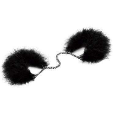 Bijoux Indiscrets Za Za Zu, черные Наручники украшенные перьями topco bum buddies anal beads анальная цепочка с рифлеными шариками
