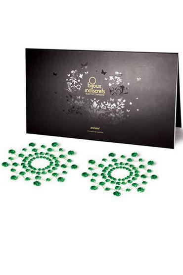 Bijoux Indiscrets MiMi, зеленое Украшение для груди украшения для шеи и рук материал металл