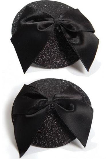 Фото - Bijoux Indiscrets Burlesque Pasties Bow, черные Пэстисы украшенные бантиками bijoux indiscrets burlesque pasties sequin черные пэстисы расшитые пайетками