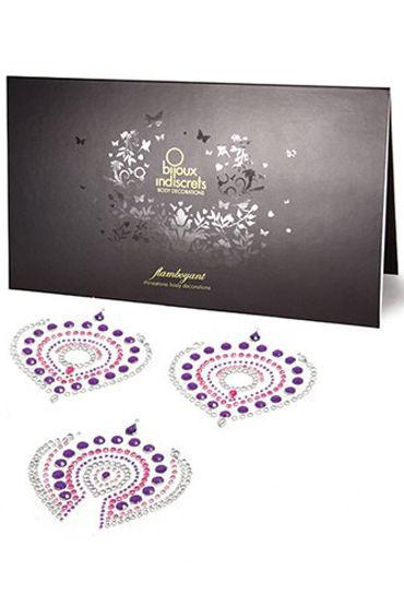 где купить Bijoux Indiscrets Flamboyant, розово-фиолетовое Украшение для груди и зоны бикини по лучшей цене