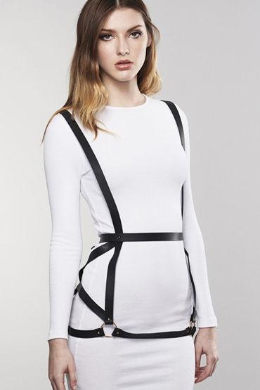 Bijoux Indiscrets MAZE Arrow Dress Harness, черная Портупея женская портупея черная с зеркальными элементами bella black