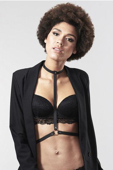 Bijoux Indiscrets MAZE I Harness, черная Портупея женская цена и фото