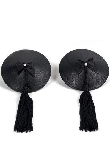 Bijoux Indiscrets Burlesque Pasties Classic, черные Пэстисы украшенные кисточками