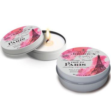 Mystim Petits Joujoux A trip to Paris, 43 мл Массажная свеча с ароматом ванили и сандала массажная свеча petits joujoux london свежесть 190 гр