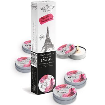 Mystim Petits Joujoux A trip to Paris, 43 мл Набор массажных свечей с ароматом ванили и сандала baile crazybulldelia мастурбатор на присоске с вибрацией