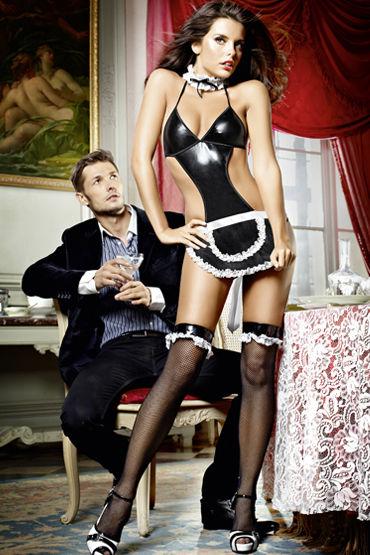 Baci Соблазнительная Официантка Боди с фартуком и воротничок baci мини платье белое