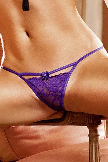 Baci трусики, фиолетовые Из тончайшего кружева наручники и фиксация obsessive