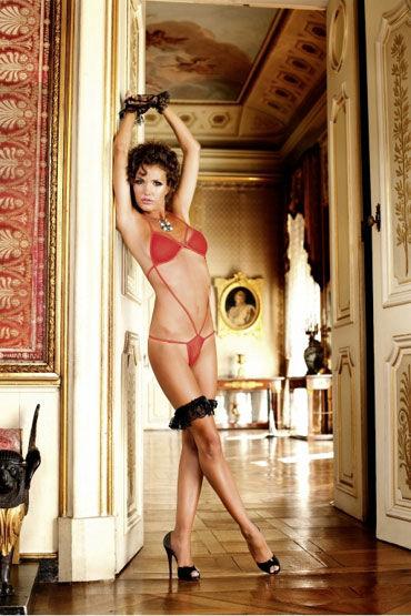 Baci тедди, красное Из нежной сеточки костюм obsessive gepardina s m