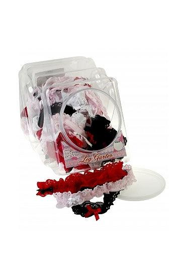 Pipedream Leg Garters Разноцветные подвязки на ногу, 36 шт конфетница lefard голден 18х10 5х14см на ножке стекло