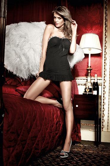 Baci мини-платье, черное Без бретелек платьице have fun princess черное из узорчатой ткани с кружевным бюстье