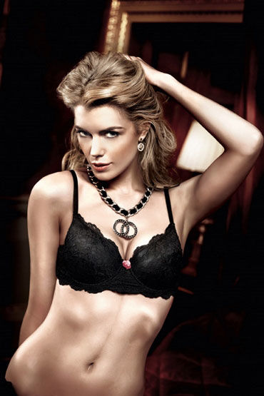 Baci бюстгальтер, черный Кружевной, с мягкими чашечками трусики livia corsetti carlina white белый s