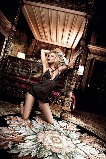 Baci мини-платье, черное Из узорчатой тюлевой ткани платьице have fun princess черное из узорчатой ткани с кружевным бюстье