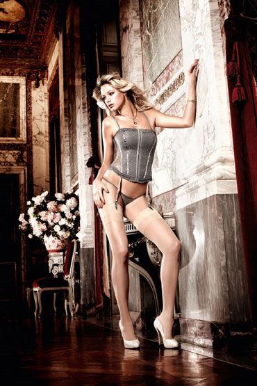 Baci корсет, серый С подвязками для чулок комплект корсет с подвязками le cabaret комплект корсет с подвязками