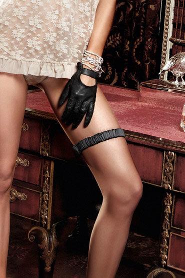 Baci подвязка, черная С декоративной накладкой подвязка roxana атласная черная xl xxxl