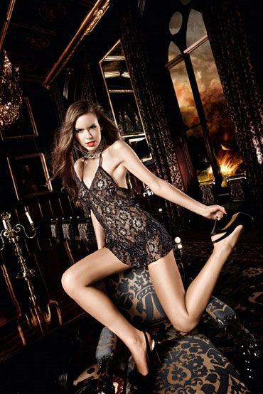 Baci мини-платье, черно-серебристое С завязками за шее  и орнаментом