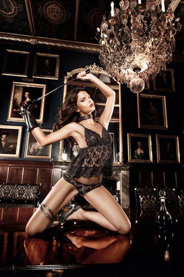Baci комплект, черный Кружевной топ и трусики корсет kitten corset размер xl xxl