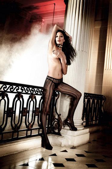 Baci колготки, черные С многогранными узорами колготки baci lingerie