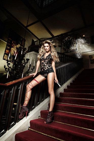 Baci мини-платье, черное С завязками за шее платьице have fun princess черное из узорчатой ткани с кружевным бюстье