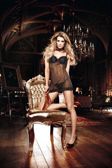 Baci мини-платье, черное С аппликациями и мягкими чашечками д прочие аксессуары baci lingerie