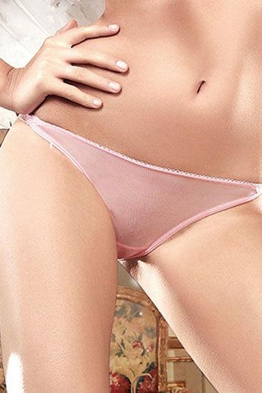 Baci трусики, розовые С кружевным узором сзади pipedream tapered double dildo 41 см телесный фаллоимитатор двухсторонний