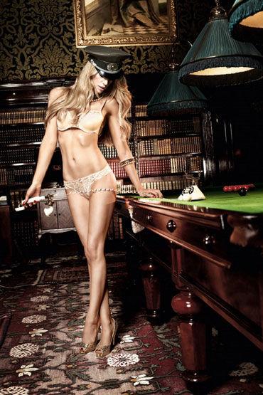 Baci G-стринги, золотистые Кружевные, с бантиком 9 baci essential satin amp leather corset