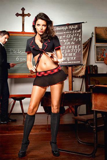 Baci Учительница Воскресной Школы Топ, мини-юбка корсет kitten corset размер xl xxl