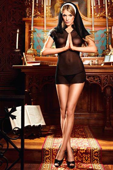 Baci Очаровательная Монашка Мини-платье и головной убор california exotic booty call booty slider розовая анальная пробка