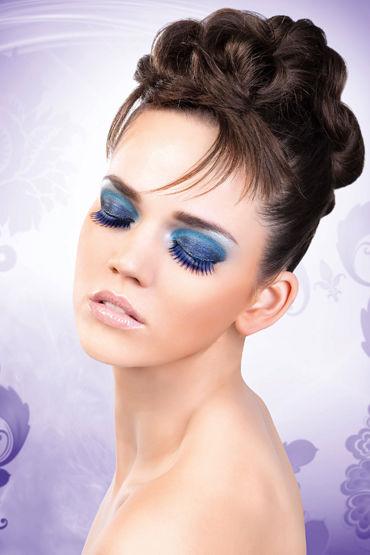 Baci Lashes, сине-фиолетовый Длинные накладные ресницы о ideal monochrom фиолетовый