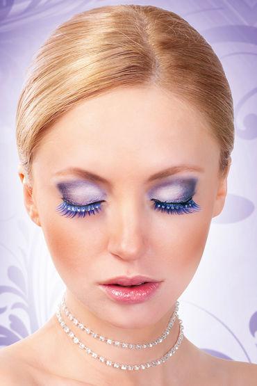 Baci Lashes, синий Накладные ресницы со стразами мастурбаторы цвет синий