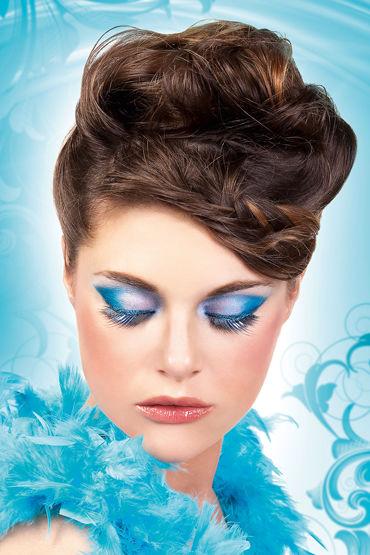 Baci Lashes, черно-голубой Накладные ресницы ресницы перья голубая симфония