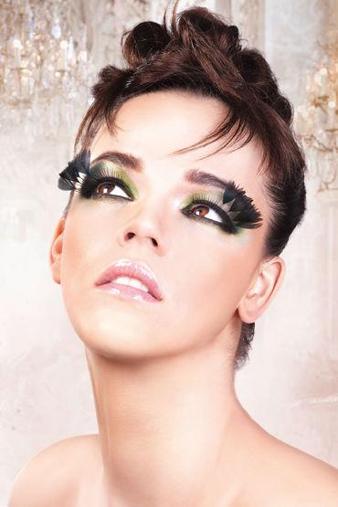 Baci Lashes, черный Накладные ресницы с перьями baci lashes зеленый накладные ресницы с перьями