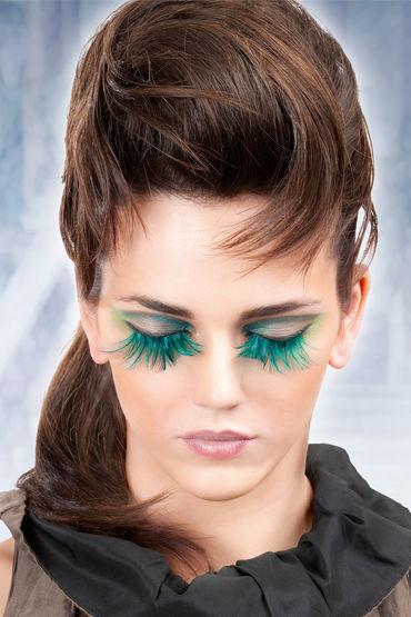 Baci Lashes, голубой Накладные ресницы с перьями baci lashes зеленый накладные ресницы с перьями