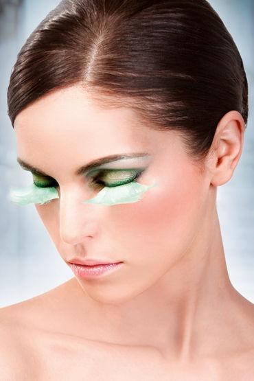Baci Lashes, бирюзовый Накладные ресницы с перьями baci lashes зеленый накладные ресницы с перьями
