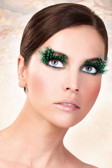 Baci Lashes, темно-зеленый Накладные ресницы с перьями baci lashes зеленый накладные ресницы с перьями