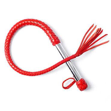 Sitabella BDSM Плеть однохвостая, красная С хлопушкой sitabella плеть черный с плетенными хвостами