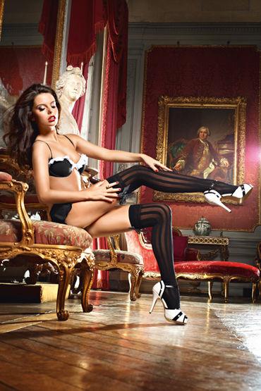 Baci Dreams Laundry French Maid Чулки с вертикальными полосками чулки сетка soft line с кружевной резинкой черные l