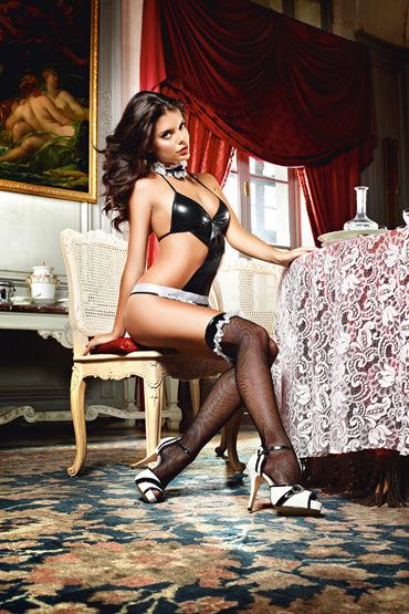 Baci Dreams Privat French Maid Высокие чулки в мелкую сетку coquette чулочки в мелкую сетку под пояс