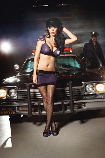 Baci Dreams Night Patrol Police Высокие узорчатые чулки ц ouch wooden bridle с фиолетовым ремешком
