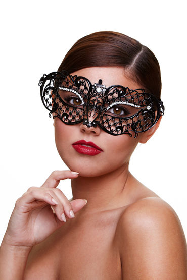 Baci Dreams Mask Midnight Маска со стразами вибратор intimate love 12 audlt g il 03