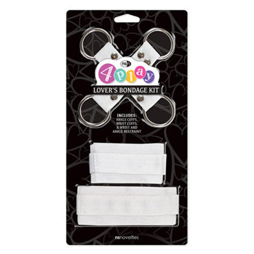NS Novelties 4Play Lovers, белый Набор для фиксации ns novelties silicone submissions wrist cuffs розовый мягкие силиконовые наручники