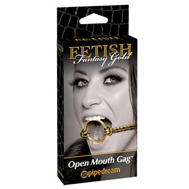 Pipedream Fetish Fantasy Gold Open Mouth Gag Расширитель для рта erotic fantasy o ring gag кляп расширитель