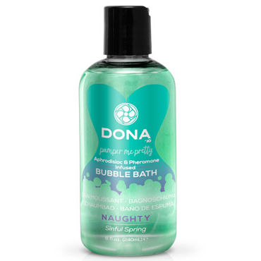 Dona Bubble Bath Naughty Aroma Sinful Spring, 240 мл Пена для ванны с ароматом Шалость erotic fantasy o ring gag кляп расширитель