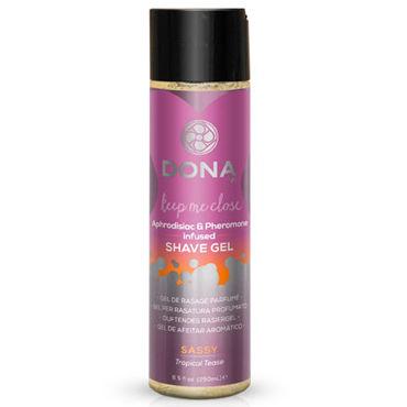 Dona Shave Gel Sassy Aroma Tropical Tease, 250 мл Гель для душа и бритья с ароматом Страсть dona rose petals pink декоративные лепестки розовые