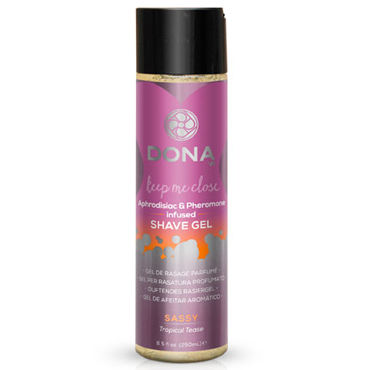 Dona Shave Gel Sassy Aroma Tropical Tease, 250 мл Гель для душа и бритья с ароматом Страсть dona lingerie wash flirty aroma blushing berry 250 мл