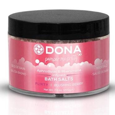 Dona Bath Salt Flirty Aroma Blushing Berry, 215 г Соль для ванны меняющая цвет воды с ароматом Флирт dona lingerie wash flirty aroma blushing berry 250 мл