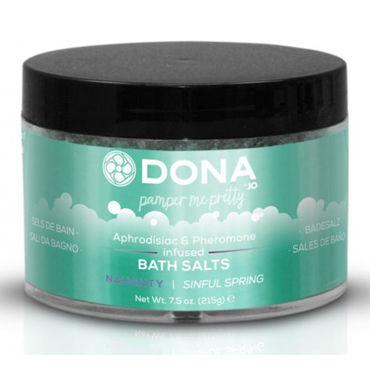 Dona Bath Salt Naughty Aroma Sinful Spring, 215 г Соль для ванны меняющая цвет воды с ароматом Шалость contex extra large презервативы увеличенного размера