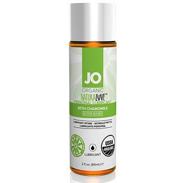 System JO Organic NaturaLove, 60 мл Органический лубрикант на водной основе, с экстрактом ромашки zado кандалы для ног кожаные