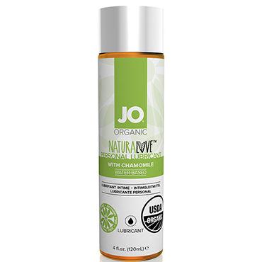 System JO Organic NaturaLove, 120 мл Органический лубрикант на водной основе, с экстрактом ромашки нейтральный любрикант на водной основе jo personal lubricant h2o 120 мл