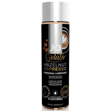 System JO Gelato Hazelnut Espresso, 120 мл Лубрикант на водной основе со вкусом Ореховый эспрессо фаллоимитатор m sex baile stoy009