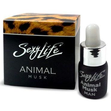 Sexy Life Animal Musk Man, 5 мл Концентрат феромонов с ароматом мускуса для мужчин костюм горничная softline laura размер m l цвет черный